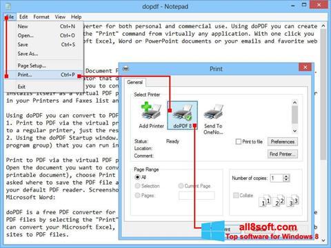 Képernyőkép doPDF Windows 8