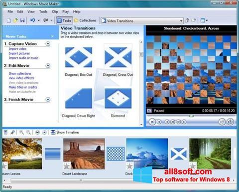 Képernyőkép Windows Movie Maker Windows 8