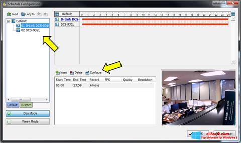 Képernyőkép D-ViewCam Windows 8