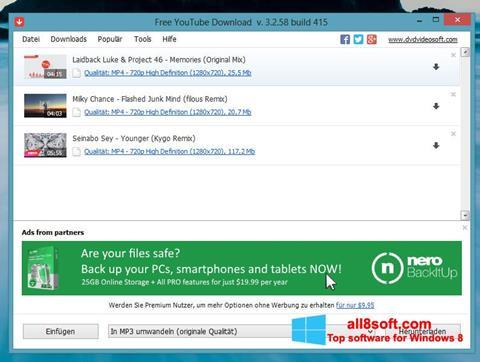 Képernyőkép Free YouTube Download Windows 8