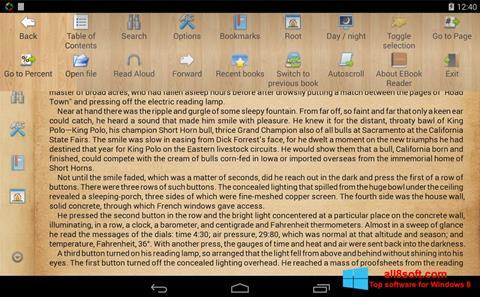 Képernyőkép Cool Reader Windows 8
