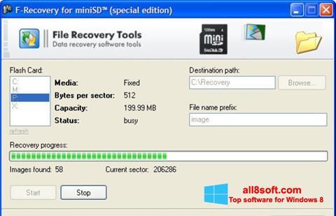 Képernyőkép F-Recovery SD Windows 8