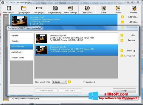 Képernyőkép DVD Flick Windows 8