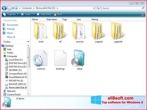 Képernyőkép Windows 7 USB DVD Download Tool Windows 8