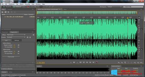 Képernyőkép Adobe Audition Windows 8