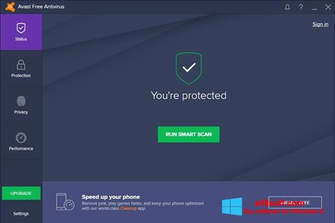 Képernyőkép Avast Free Antivirus Windows 8