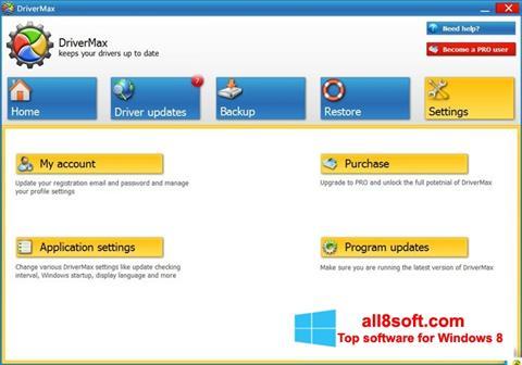 Képernyőkép DriverMax Windows 8