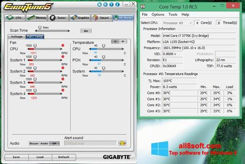 Képernyőkép EasyTune Windows 8