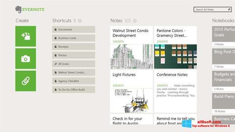 Képernyőkép Evernote Windows 8