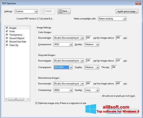 Képernyőkép Adobe Acrobat Pro DC Windows 8