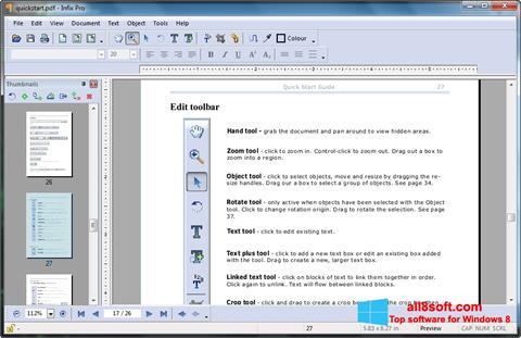 Képernyőkép Infix PDF Editor Windows 8