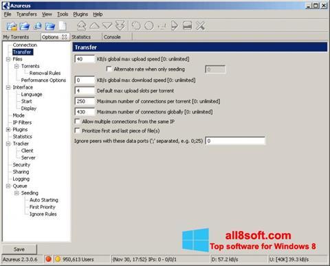 Képernyőkép Vuze Windows 8