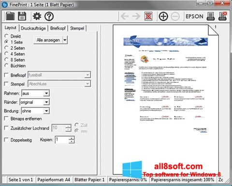 Képernyőkép FinePrint Windows 8