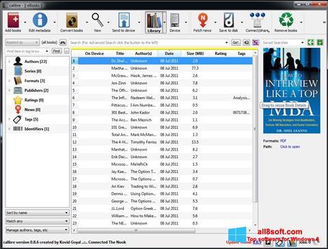 Képernyőkép Calibre Windows 8