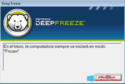 Képernyőkép Deep Freeze Windows 8