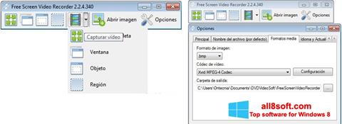 Képernyőkép Free Screen Video Recorder Windows 8