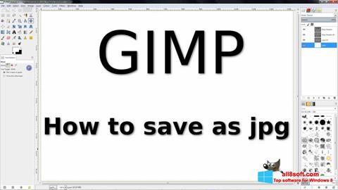 Képernyőkép GIMP Windows 8