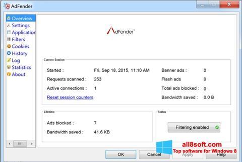 Képernyőkép AdFender Windows 8