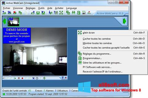 Képernyőkép Active WebCam Windows 8