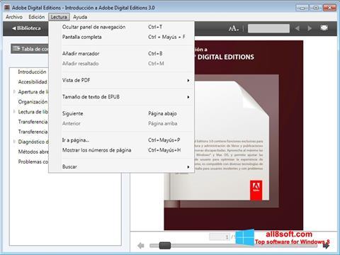 Képernyőkép Adobe Digital Editions Windows 8