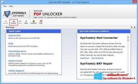 Képernyőkép PDF Unlocker Windows 8