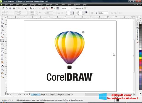 Képernyőkép CorelDRAW Windows 8