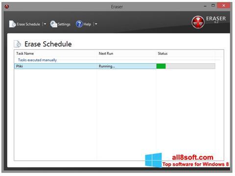 Képernyőkép Eraser Windows 8