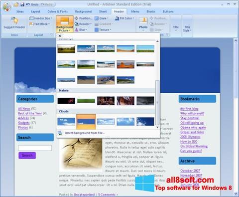 Képernyőkép Artisteer Windows 8