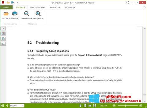Képernyőkép Hamster PDF Reader Windows 8
