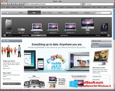 Képernyőkép Safari Windows 8