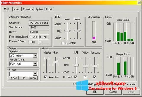 Képernyőkép AC3 Codec Windows 8