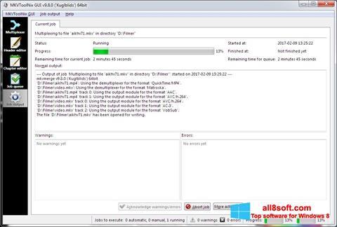 Képernyőkép MKVToolnix Windows 8