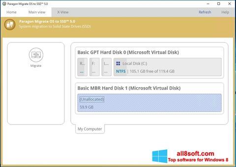 Képernyőkép Paragon Migrate OS to SSD Windows 8