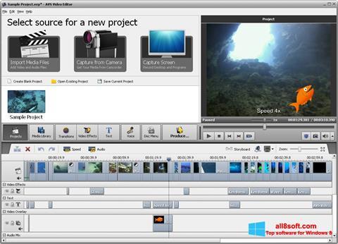 Képernyőkép AVS Video Editor Windows 8