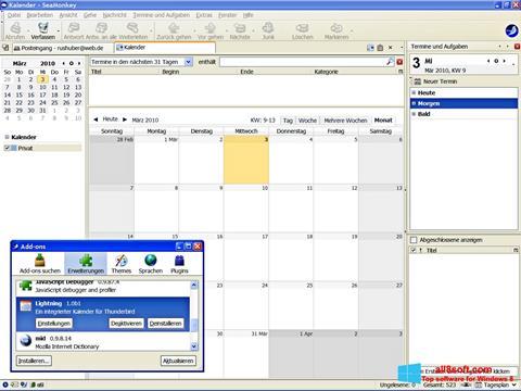 Képernyőkép SeaMonkey Windows 8
