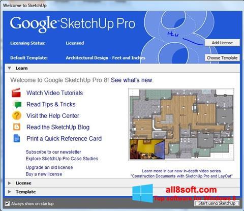 Képernyőkép Google SketchUp Pro Windows 8