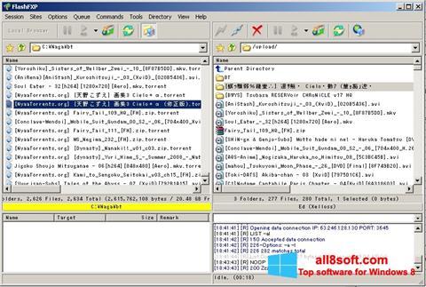 Képernyőkép FlashFXP Windows 8