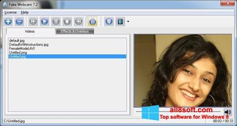 Képernyőkép Fake Webcam Windows 8