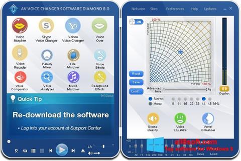 Képernyőkép AV Voice Changer Diamond Windows 8