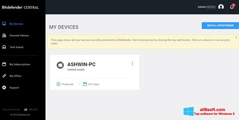 Képernyőkép Bitdefender Windows 8