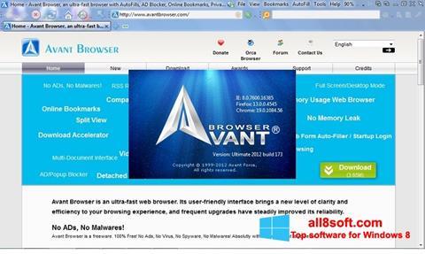 Képernyőkép Avant Browser Windows 8