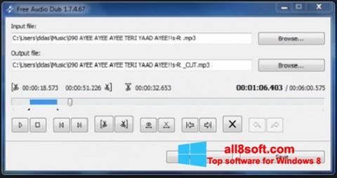 Képernyőkép Free Audio Dub Windows 8