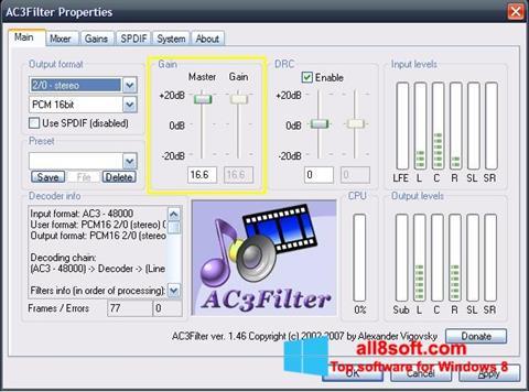 Képernyőkép AC3Filter Windows 8