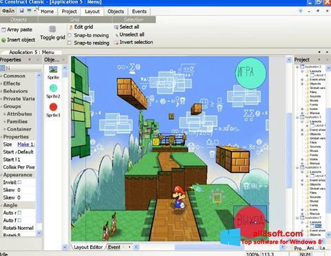 Képernyőkép Construct Classic Windows 8