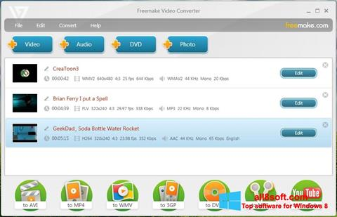 Képernyőkép Freemake Video Converter Windows 8