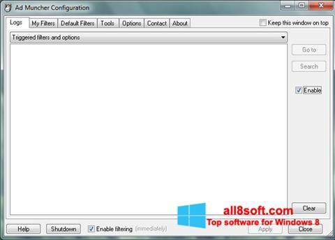 Képernyőkép Ad Muncher Windows 8