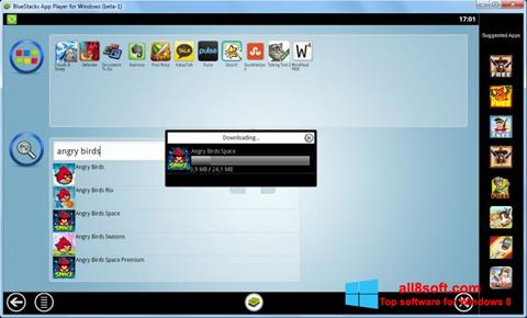 Képernyőkép BlueStacks Windows 8