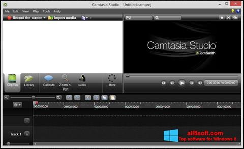 Képernyőkép Camtasia Studio Windows 8