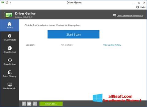 Képernyőkép DriverScanner Windows 8