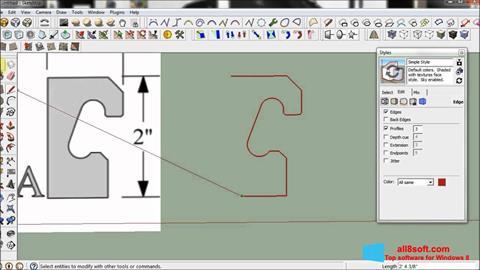 Képernyőkép SketchUp Windows 8